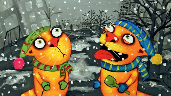 Картина Васи Ложкина Первый снег