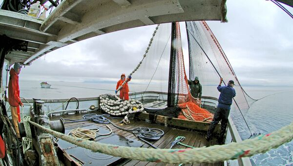 Ловля лосося на юго-востоке Аляски в районе гавани Элайза и острова Адмиралти. Архивное фото
