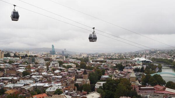 Канатная дорога в историческом центре Тбилиси