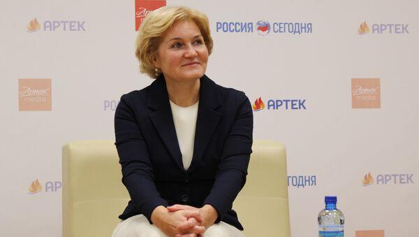 Заместитель председателя правительства РФ Ольга Голодец в медиа-кампус МДЦ Артек и МИА Россия сегодня