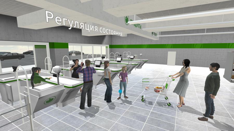 Скриншот из VR проекта «Механика Аутизма. Почему они так реагируют?»