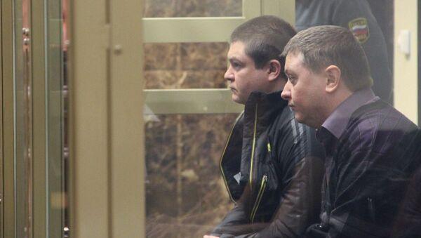 Сергей Цапок и Вячеслав Цеповяз в суде. Архивное фото