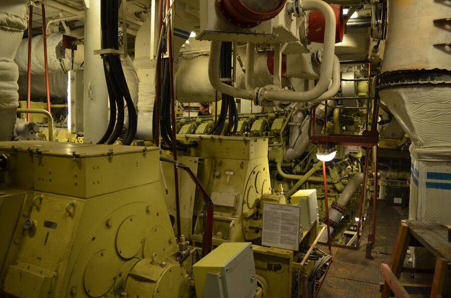 Моторный отсек фрегата «Адмирал флота Касатонов».