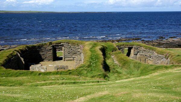 Нэп-оф-Хауар на острове Папа-Уэстрей в Оркнейском архипелаге на севере Шотландии