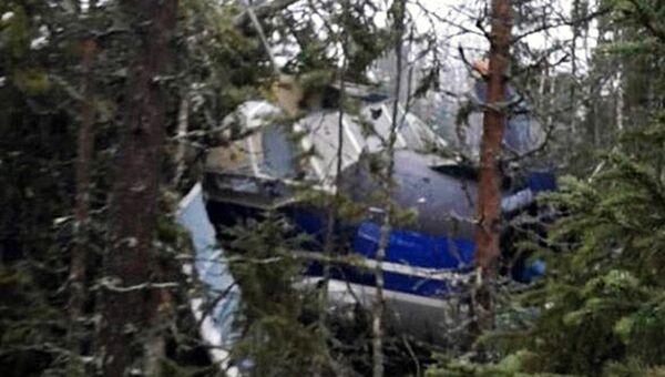 Самолет Ан-2, совершивший вынужденную посадку в лесу в 50 километрах от Архангельска. 8 ноября 2018