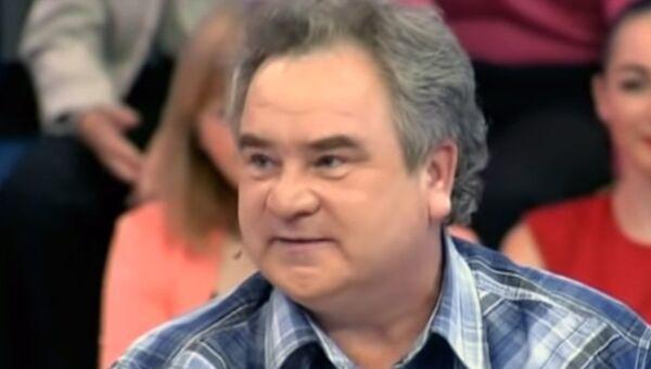 Снимок экрана передачи с участием актера Николая Румянцева