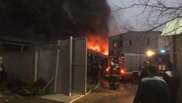 Пожар в цехе по производству пластмассы в подмосковной Балашихе. 9 ноября 2018