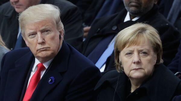 Президент США Дональд Трамп и канцлер ФРГ Ангела Меркель