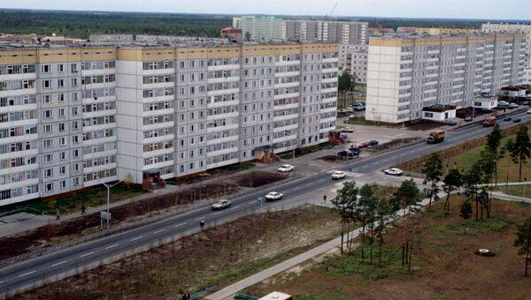 Улица Дружбы народов. Ханты-Мансийский автономный округ. Город Когалым