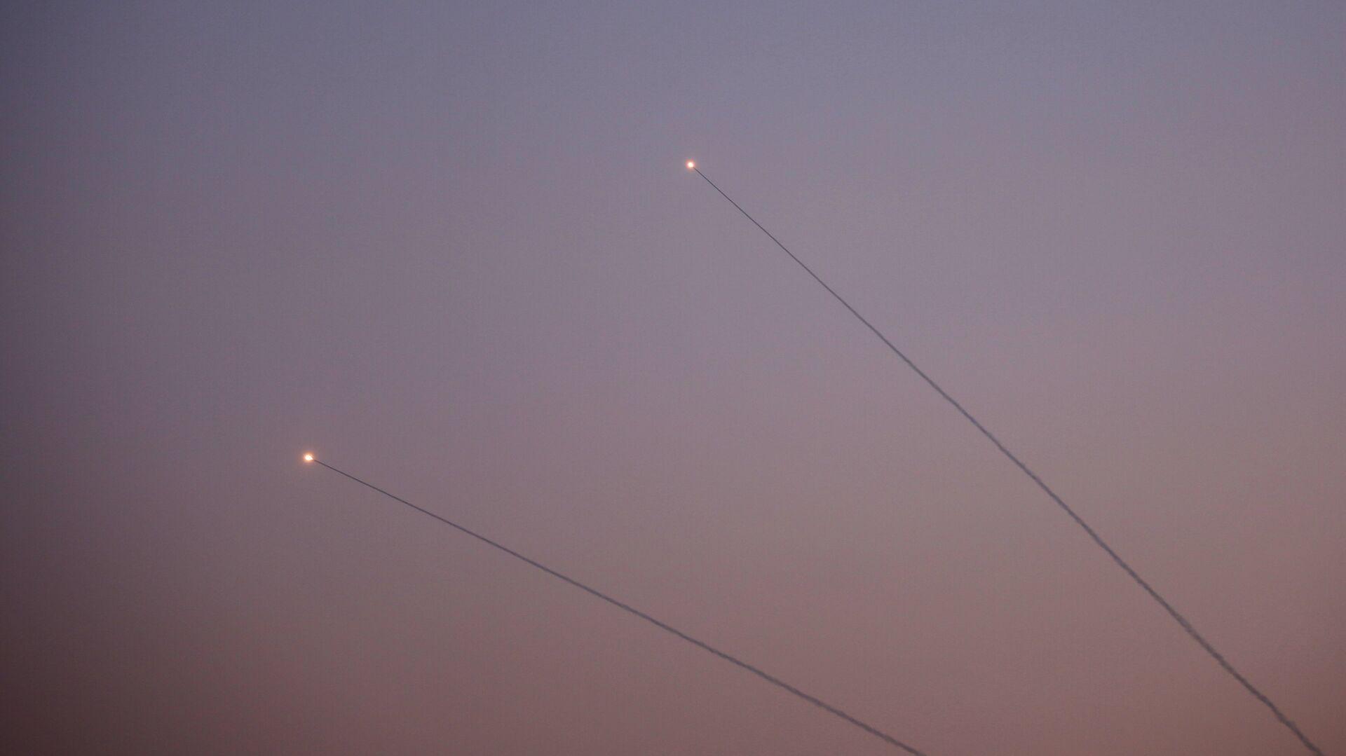 Обмен ракетными ударами между Израилем и сектором Газа - РИА Новости, 1920, 10.05.2021