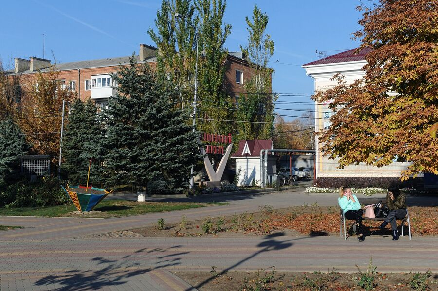 На одной из улиц в станице Кущевская Краснодарского края