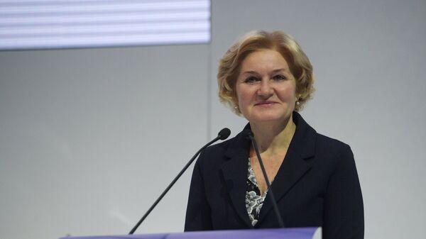 Заместитель председателя правительства РФ Ольга Голодец выступает на открытии Международного культурного форума в Санкт-Петербурге. 15 ноября 2018