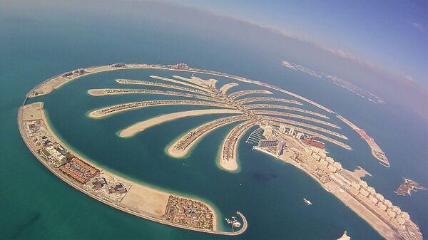 Искусственный остров Пальма Джумейра в ОАЭ