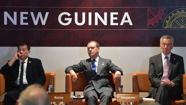Премьер-министр РФ Д. Медведев на саммите АТЭС в Папуа – Новой Гвинее.