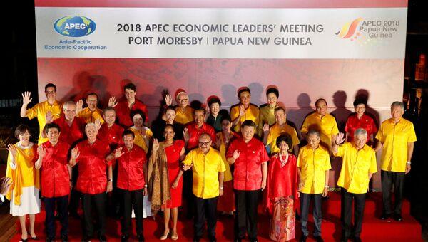 Лидеры АТЭС сделали фото в национальных новогвинейских рубашках. 17 ноября 2018