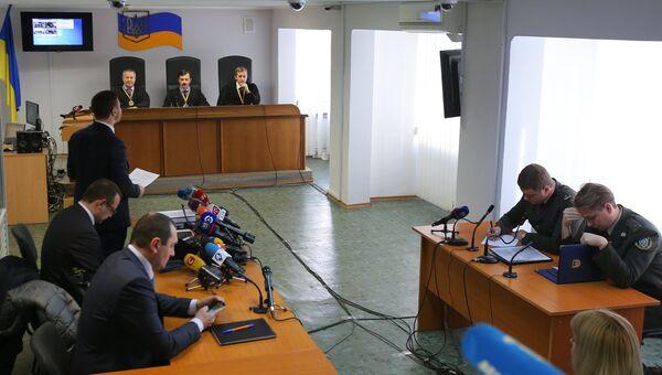 Заседание Оболонского районного суда Киева, где рассматривается дело о государственной измене экс-президента Украины Виктора Януковича. 19 ноября 2018