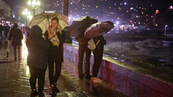 Ливневый дождь в Ялте