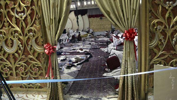 Последствия взрыва в свадебном зале в Кабуле. 21 ноября 2018 года