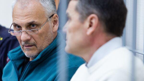 Бывший губернатор Сахалинской области Александр Хорошавин в зале суда