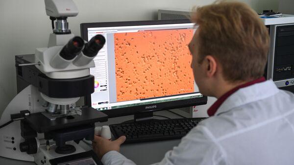 Снимок культуры бактерий, синтезирующих биополимер Биопластотан
