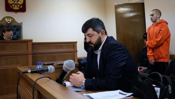 Рэп-исполнитель Хаски (Дмитрий Кузнецов) во время рассмотрения административного дела в Первомайском районном суде Краснодара