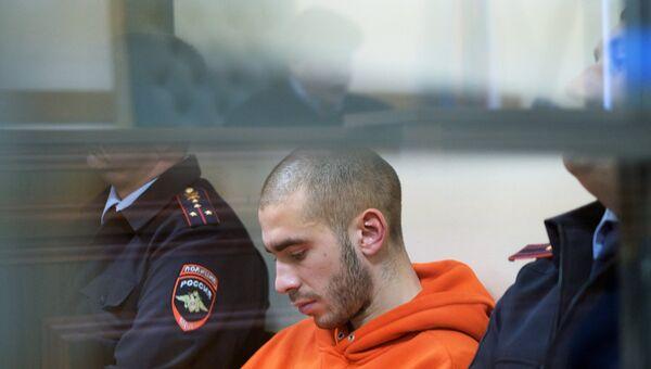 Рэп-исполнитель Хаски во время рассмотрения административного дела в Первомайском районном суде Краснодара. Архивное фото