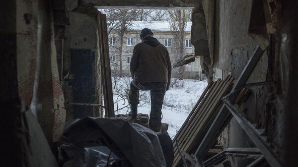 Жилой дом в поселке Донецкий Луганской области