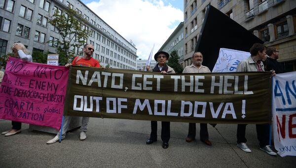 Акции протеста против вступления Молдавии в НАТО. Архивное фото
