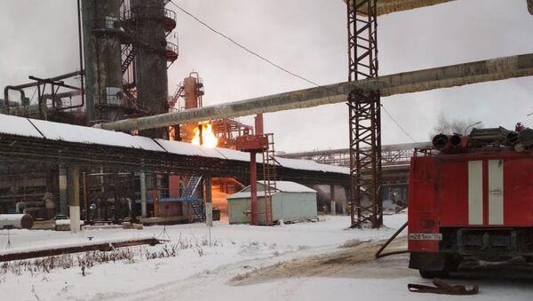 Пожар на заводе Синтез-Каучук в Стерлитамаке. 27 ноября 2018
