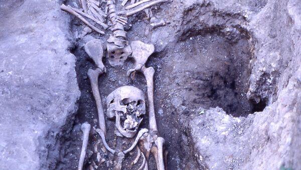 Останки жертв чумы из Сан-Сальваторе (Италия)