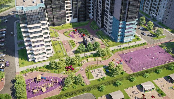 В ЖК ArtLine в Приморском предусмотрены дворы без машин, в центре расположится общественное арт-пространство