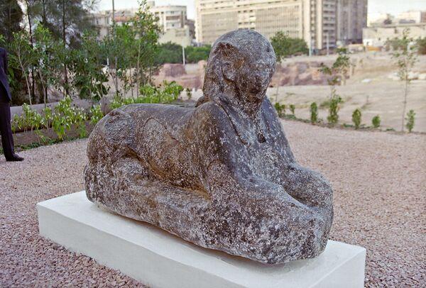 Артефакт со дна моря вблизи развалин Александрийского маяка
