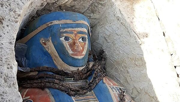 Мумии позднего династического периода, найденные в Дашуре