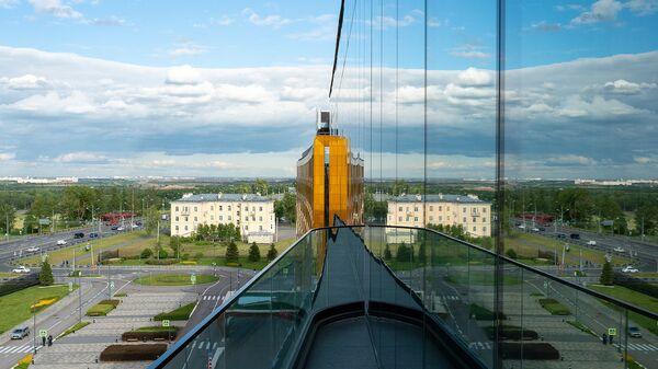 Вид из отеля около Конгрессно-выставочного центра, Санкт-Петербург