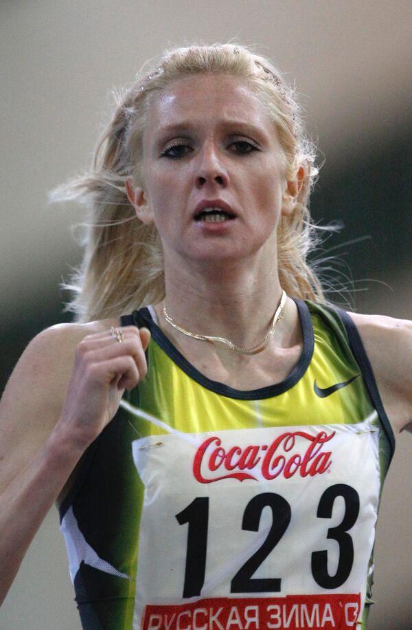 Российская бегунья Елена Соболева
