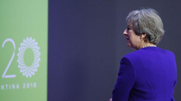 Премьер-министр Великобритании Тереза Мэй перед началом саммита Группы двадцати-2018 в Буэнос-Айресе. 30 ноября 2018