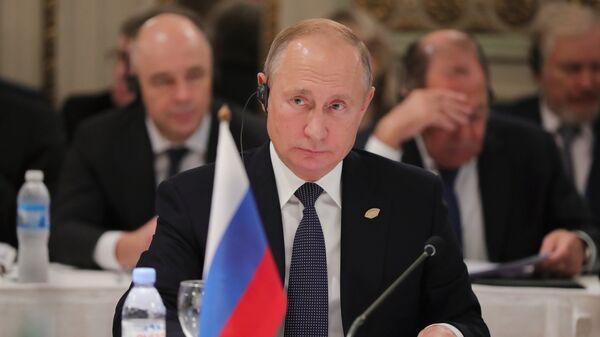 Президент РФ Владимир Путин на полях саммита Группы двадцати в Буэнос-Айресе. 30 ноября 2018