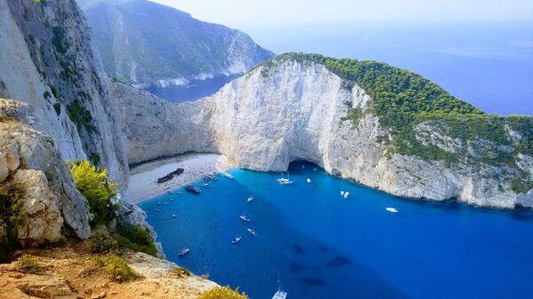 Пляж Навайо на острове Закинф, Греция