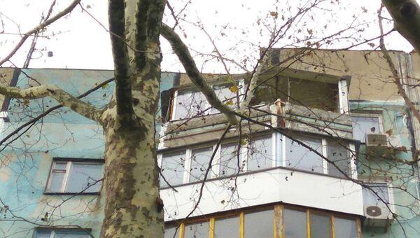 Хлопок газо-воздушной смеси на 9 этаже в многоквартирном жилом здании, Керчь. 2 декабря 2018