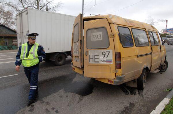 ДТП с участием маршрутного такси. Архив