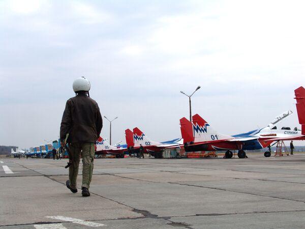 На аэродроме в Кубинке