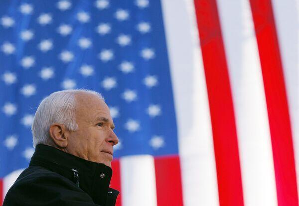 Кандидат в президенты США от республиканской партии Джон Маккейн в штате Огайо
