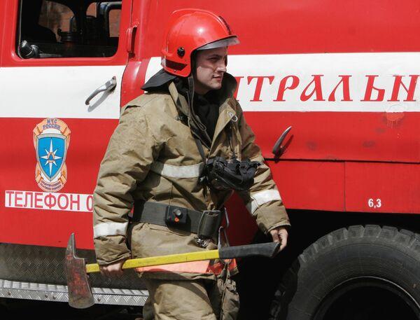 Пожар на территории Сталепрокатного завода