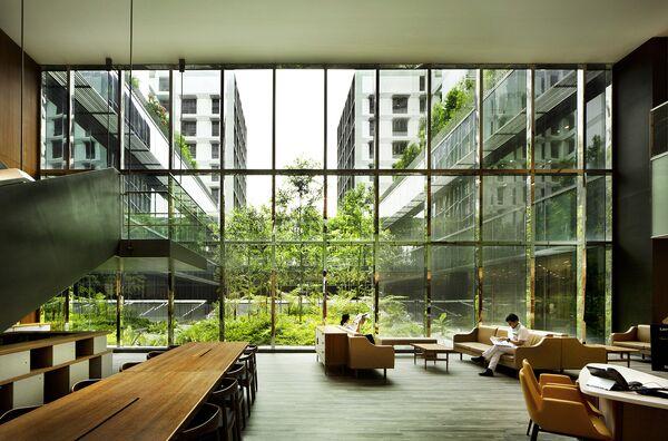 Здание дома престарелых в одном из районов Сингапура, получивший звание Лучшее здание в мире в 2018 году на Всемирном фестивале архитектуры