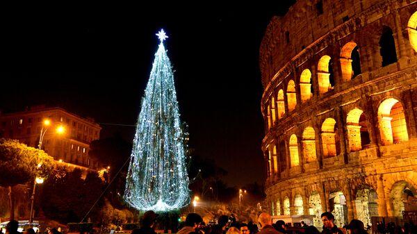 Рождественская елка в Риме, Италия