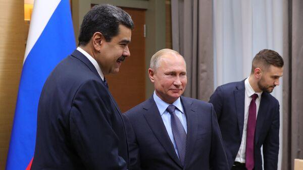 Президент России Владимир Путин и президент Венесуэлы Николас Мадуро во время встречи. 5 декабря 2018