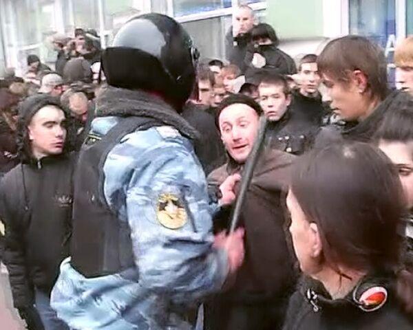 ОМОН разобрался с участниками Русского марша