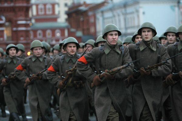 Генеральная репетиция парада, посвященного историческому параду 7 ноября 1941 года