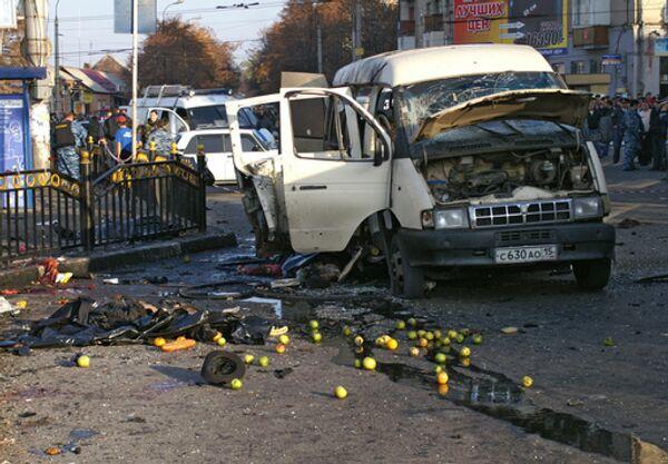 Теракт на остановке маршрутного такси во Владикавказе