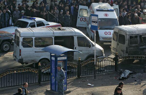 Теракт в маршрутном такси во Владикавказе